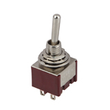 Тумблер MTS-201 (ON-OFF), 220V, 3A, 4pin, ON-OFF, 13x13mm, D6mm, (),    [China]